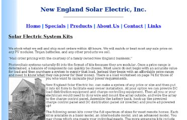 http://www.newenglandsolar.com/catalog_pages/solar_kits.htm