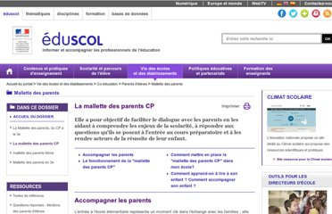 http://eduscol.education.fr/cid59844/la-mallette-des-parents-cp.html
