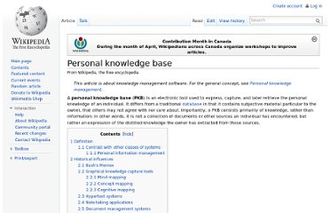 http://en.wikipedia.org/wiki/Personal_knowledge_base