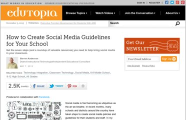 http://www.edutopia.org/how-to-create-social-media-guidelines-school