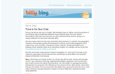 http://blog.bitly.com/post/22663850994/time-is-on-your-side