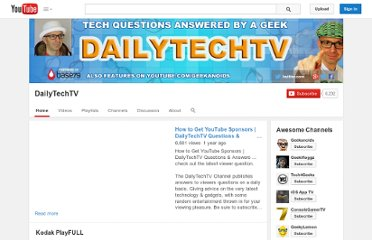 http://www.youtube.com/user/DailyTechTV