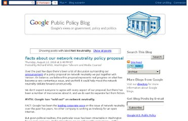 http://googlepublicpolicy.blogspot.com/search/label/Net%20Neutrality