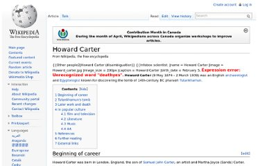 http://en.wikipedia.org/wiki/Howard_Carter