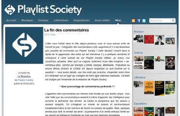 http://www.playlistsociety.fr/2012/05/la-fin-des-commentaires/18985/