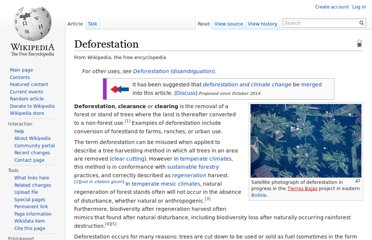 http://en.wikipedia.org/wiki/Deforestation