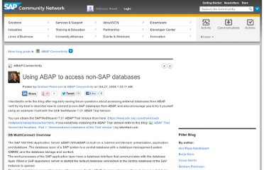 http://scn.sap.com/community/abap/connectivity/blog/2008/10/27/using-abap-to-access-non-sap-databases