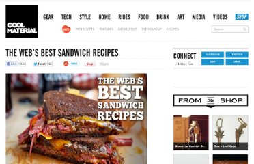 http://coolmaterial.com/roundup/the-webs-best-sandwich-recipes/
