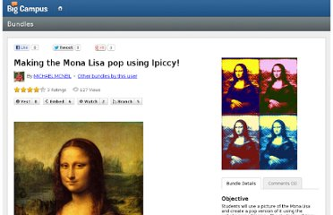http://www.mybigcampus.com/bundles/making-the-mona-lisa-pop-using-ipiccy---37504