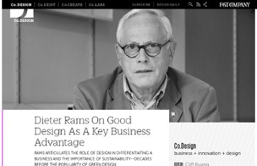 http://www.fastcodesign.com/1669725/dieter-rams-on-good-design-as-a-key-business-advantage