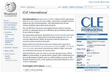 http://fr.wikipedia.org/wiki/CLE_International