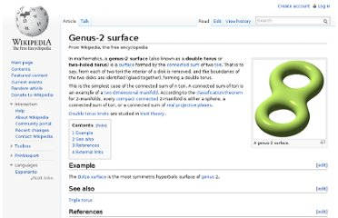 http://en.wikipedia.org/wiki/Genus-2_surface