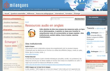 http://www.emilangues.education.fr/ressources-pedagogiques/sitographies/discipline-linguistique/ressources-audio-en-anglais