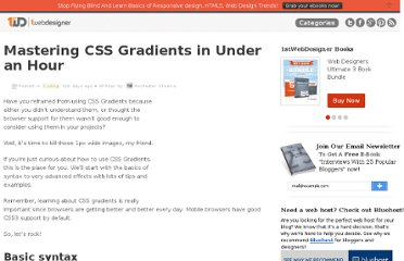http://www.1stwebdesigner.com/css/mastering-css-gradients-in-less-than-1-hour/
