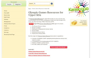 http://www.karascope.com/page/Olympic-Games-Resources-for-Upper-KS2