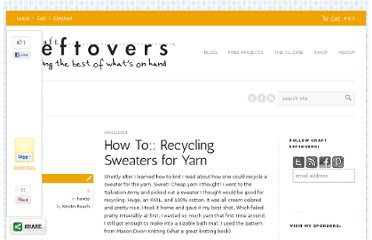 http://www.craftleftovers.com/projects/howto-projects/how-to-recycling-sweaters-for-yarn/