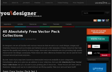 http://www.youthedesigner.com/2010/02/23/40-absolutely-free-vector-pack-collections/