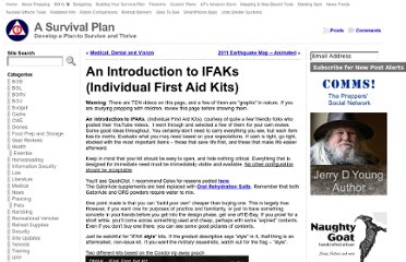 http://asurvivalplan.com/2012/02/24/an-introduction-to-ifaks-individual-first-aid-kits/