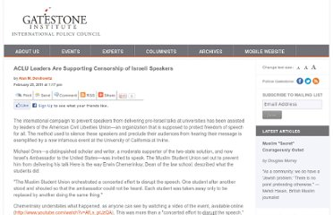 http://www.gatestoneinstitute.org/1917/aclu-leaders-are-supporting-censorship-of-israeli