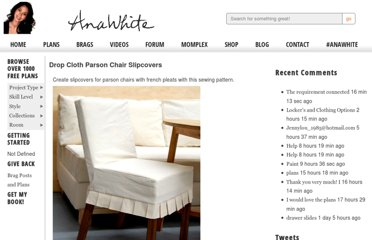 http://ana-white.com/2010/11/plans/drop-cloth-parson-chair-slipcovers
