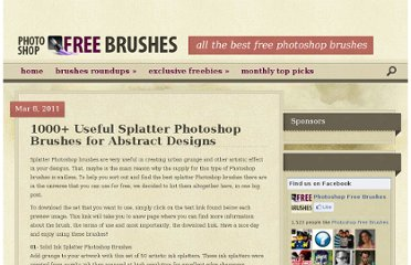 http://www.photoshopfreebrushes.com/1000-splatter-brushes-for-photoshop-the-ultimate-collection/