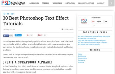 http://psdreview.com/30-mind-blowing-text-effects-photoshop-tutorials/