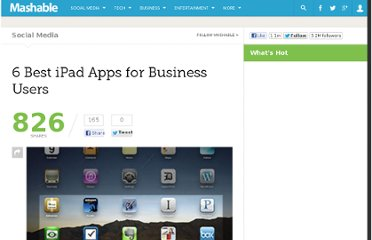 http://mashable.com/2010/04/18/ipad-apps-business/