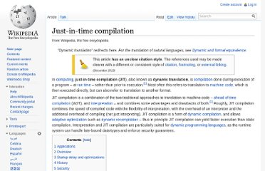 http://en.wikipedia.org/wiki/Just-in-time_compilation