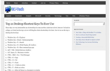 http://ec-tech.info/top-21-desktop-shortcut-keys-to-ever-use/