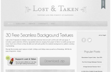 http://lostandtaken.com/blog/2012/1/4/30-free-seamless-background-textures.html/