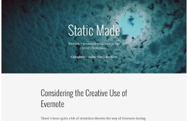 http://www.staticmade.com/considering-the-creative-use-of-evernote/