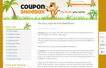 http://couponshoebox.com/tips/the-top-5-apps-for-your-smartphone/