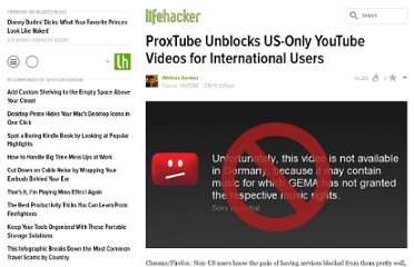 http://lifehacker.com/5909364/proxtube-unblocks-us+only-youtube-videos-for-international-users