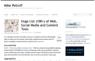 http://mikepetroff.com/2012/05/10/huge-list-100-of-web-social-media-and-content-tools/