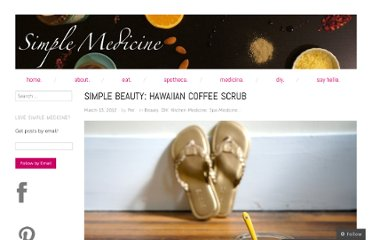 http://simplemedicine.co/2012/03/13/coffee-scrub/
