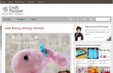 http://www.craftpassion.com/2012/05/sock-bunny-sewing-tutorial.html