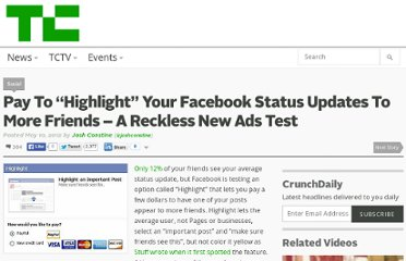 http://techcrunch.com/2012/05/10/highlight-facebook-status-updates/