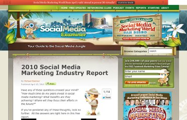 http://www.socialmediaexaminer.com/social-media-marketing-industry-report-2010/