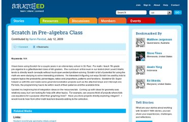 http://scratched.media.mit.edu/stories/scratch-pre-algebra-class