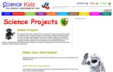 http://www.sciencekids.co.nz/projects/makearobot.html