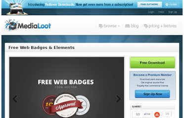 http://medialoot.com/item/free-web-badges-elements/