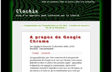 http://www.clochix.net/post/2009/12/13/A-propos-de-Google-Chrome