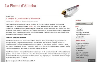 http://laplumedaliocha.wordpress.com/2010/02/26/a-propos-du-journalisme-dimmersion/