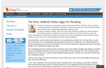 http://content.easybib.com/2012/05/09/the-best-android-tablet-apps-for-reading/