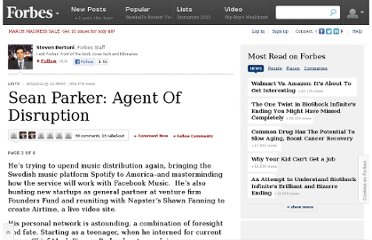 http://www.forbes.com/sites/stevenbertoni/2011/09/21/sean-parker-agent-of-disruption/2/