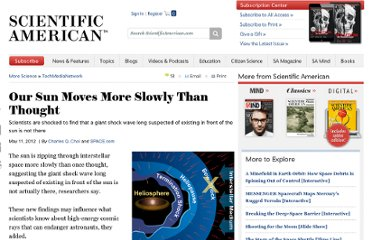 http://www.scientificamerican.com/article.cfm?id=our-sun-moves-more-slowly-than-thought