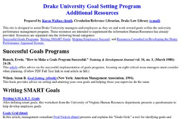 http://facstaff.law.drake.edu/karen.wallace/goal_setting/resources.html