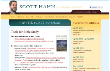 http://www.scotthahn.com/tools-for-bible-study.html