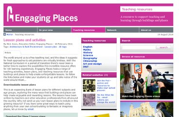 http://www.engagingplaces.org.uk/teaching%20resources/art79828