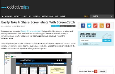 http://www.addictivetips.com/windows-tips/easily-take-share-screenshots-with-screencatch/